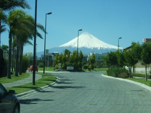 Popocatépetl Volcano As We Drive To Our House