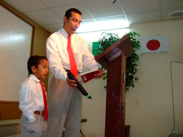 Bro. Abraham Singing With His Son Abdiel