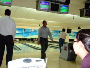 Married Couples Bowling - Bro. Alejandro Making a Spare