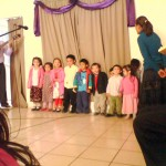 David and Hannah At The Right During Special At The Church In Aguascalientes