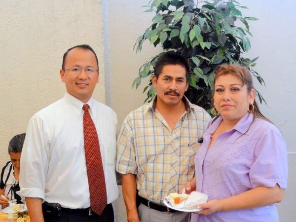 Mrs. Lupita Castañeda with her husband