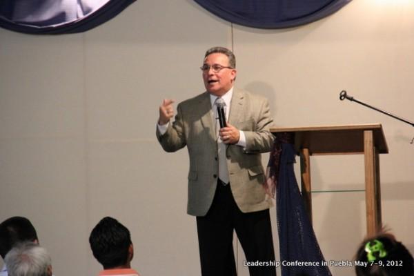 Pastor Ezequiel Salazar preaching