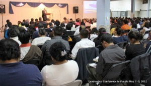 Pastor Luis Ramos preaching during our Leadership Conference