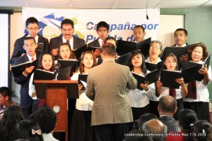 Our church choir singing during the last night at our conference