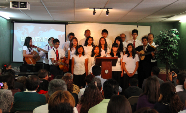 Our Rondalla singing for our 10th Year Anniversary in our church in Puebla