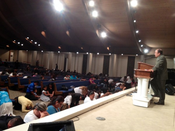 Altar time after preaching in Lighthouse Baptist Church in San Diego, CA (Spanish Ministry)