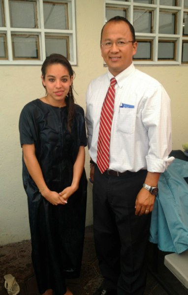 Karina was baptized last Sunday