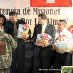 Missionaries getting their gift basket