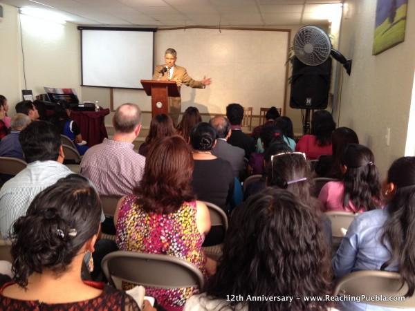 Pastor David Cortes preaching