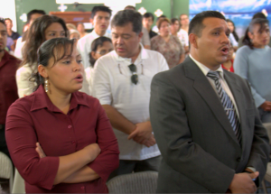 Bro. Manuel Garcia and his wife in our church